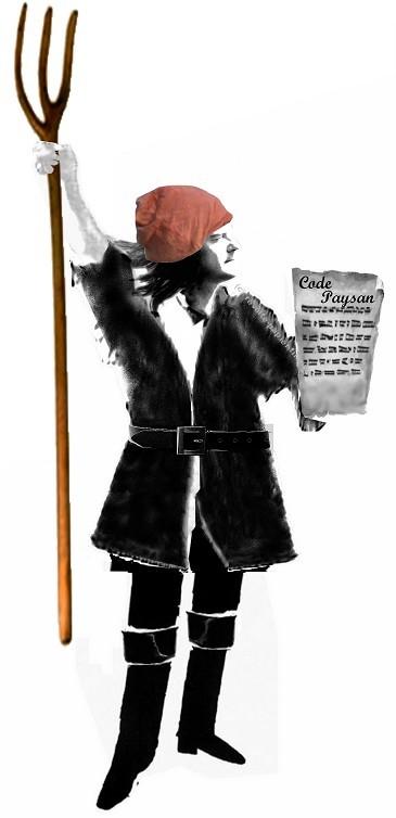 Le balp en bonnet rouge avec le code paysan